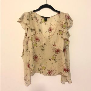 Vintage early 2000s Marc Jacobs Slvless Silk Top